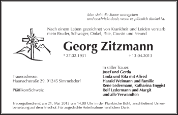 Zur Gedenkseite von Georg Zitzmann